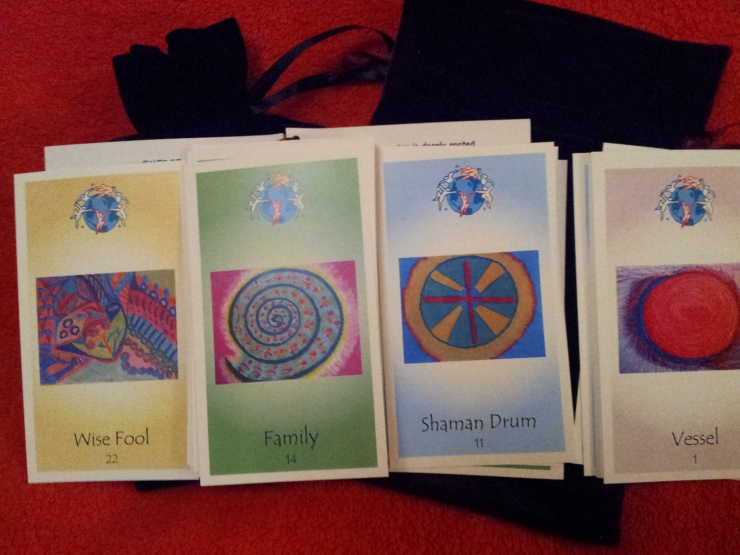 22 Cards of Original Art by Carola Marashi M.A. Author, Intuitive Counselor, Artist